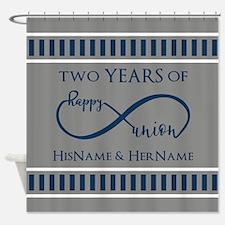 2nd Anniversary Infinity Couple Shower Curtain
