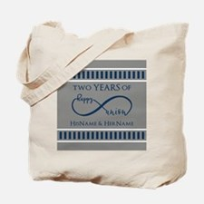 2nd Anniversary Infinity Couple Tote Bag