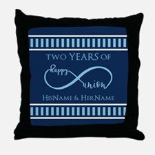 2nd Aniversary Celebration Gift Infin Throw Pillow