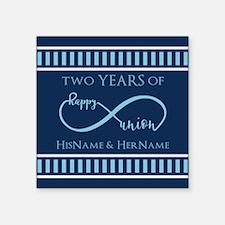 "2nd Aniversary Celebration Square Sticker 3"" x 3"""