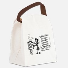 Substantial amount of coffee Canvas Lunch Bag