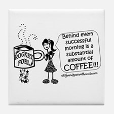 Substantial amount of coffee Tile Coaster