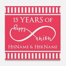 Personalized Any Number Anniversary I Tile Coaster