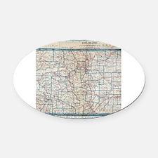 I heart colorado Oval Car Magnet