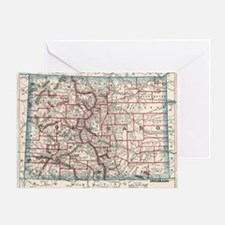 Cool City map Greeting Card
