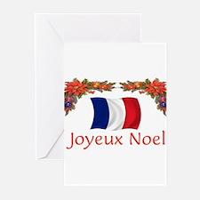 Unique Joyeux noel Greeting Cards (Pk of 20)