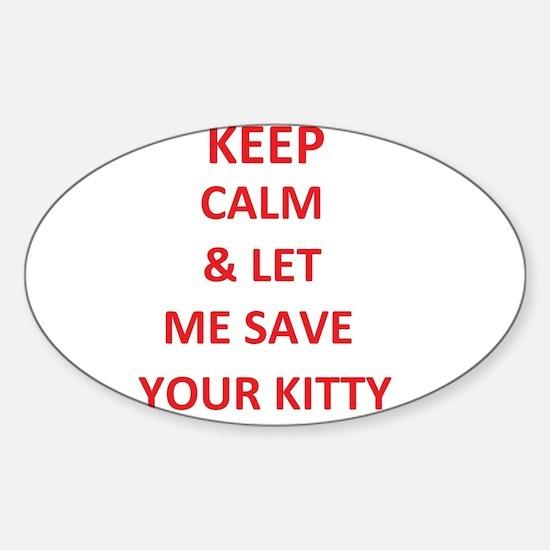 save kitty Decal