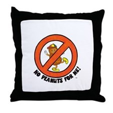 No Peanuts For Me! Throw Pillow
