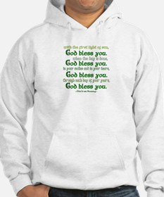 Irish Blessing--God Bless You Hoodie