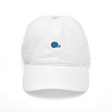 Cute blue Snail Baseball Cap