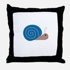 Cute blue Snail Throw Pillow