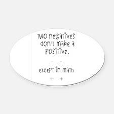 Math Oval Car Magnet