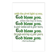 Irish Blessing--God Bless You Postcards (Package o