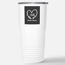 Custom Wedding Annivers Stainless Steel Travel Mug