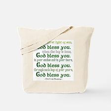Irish Blessing--God Bless You Tote Bag