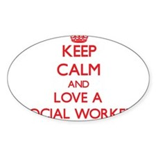 Cute Social worker Decal