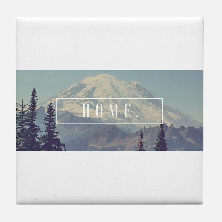 Mt. Rainier Tile Coaster