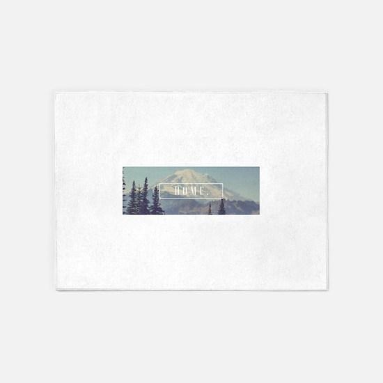 Mt. Rainier 5'x7'Area Rug