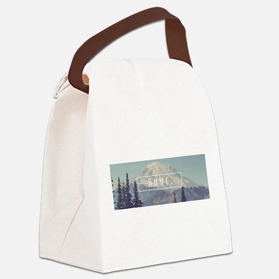 Mt. Rainier Canvas Lunch Bag