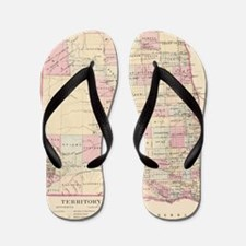 Cute Vintage north dakota Flip Flops