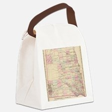 Unique North dakota Canvas Lunch Bag