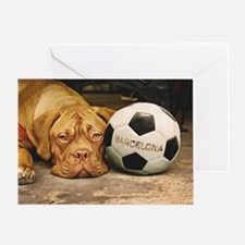 Cute Soccer ball art Greeting Card