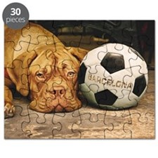 Cute Soccer ball art Puzzle