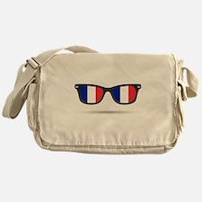 French Flag Glasses Messenger Bag