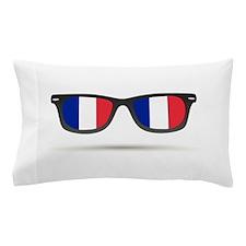 French Flag Glasses Pillow Case