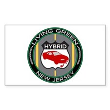 Living Green Hybrid New Jersey Sticker (Rectangula