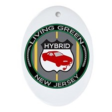 Living Green Hybrid New Jersey Oval Ornament