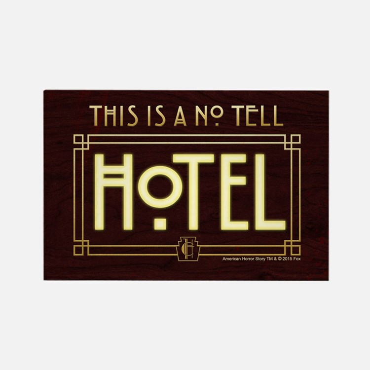 AHS Hotel No Tell Hotel Rectangle Magnet
