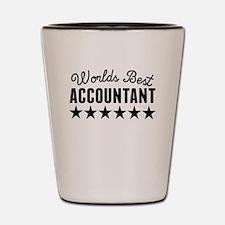 Worlds Best Accountant Shot Glass