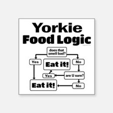 "Yorkie Food Square Sticker 3"" x 3"""