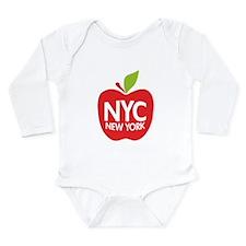 Cute Big apple Long Sleeve Infant Bodysuit