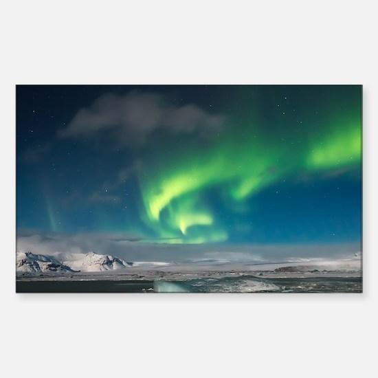 Cute Aurora borealis Sticker (Rectangle)
