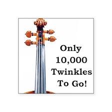 "Cute Violin Square Sticker 3"" x 3"""