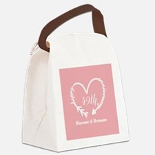 49th Anniversary Gift Coral Pink Canvas Lunch Bag
