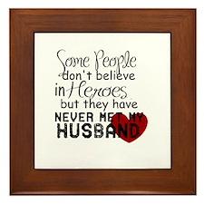 Husband hero Framed Tile