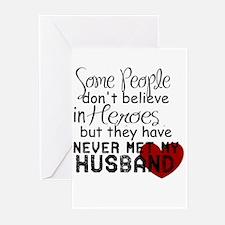 Husband hero Greeting Cards