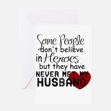 Husband hero Greeting Cards