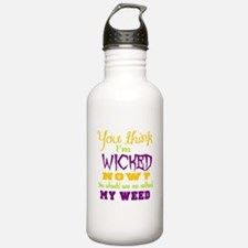 weed humor Sports Water Bottle