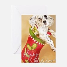 Sparrow's Stocking Greeting Cards