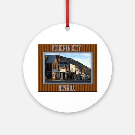 Virginia City Round Ornament