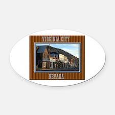 Virginia City Oval Car Magnet