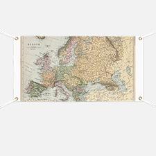 Unique Europe map Banner
