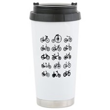 bikes pattern Travel Mug