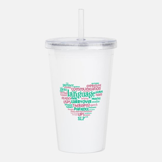 SLP Heart Acrylic Double-wall Tumbler
