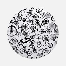 bike bikes Bicycle madness Round Ornament