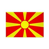 Macedonia flag Magnets